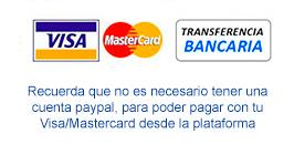 opciones de pago visa y transferencia en Seven Times