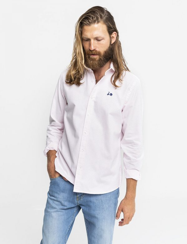 camisa cardin rosa scotta -SevenTimes