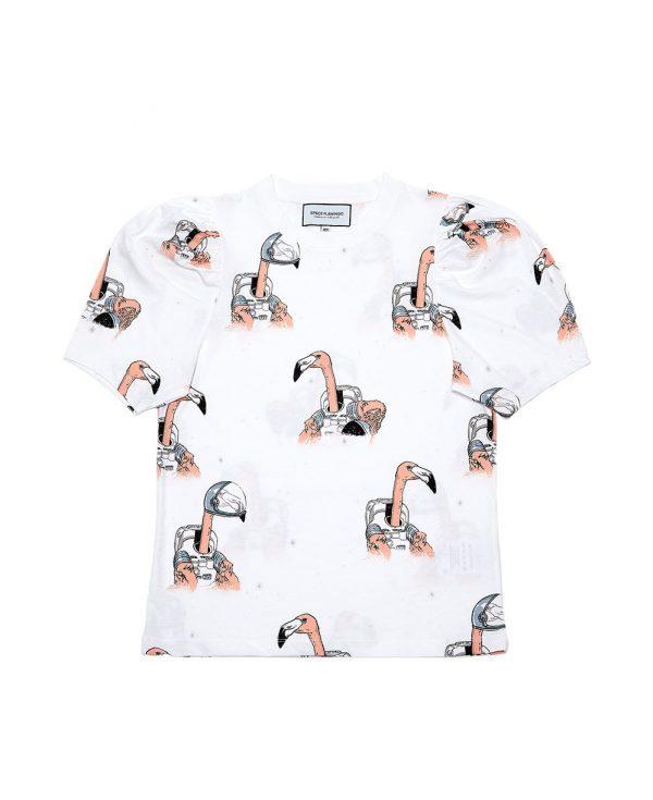 camiseta-abullonada-white Sapce Flamingo
