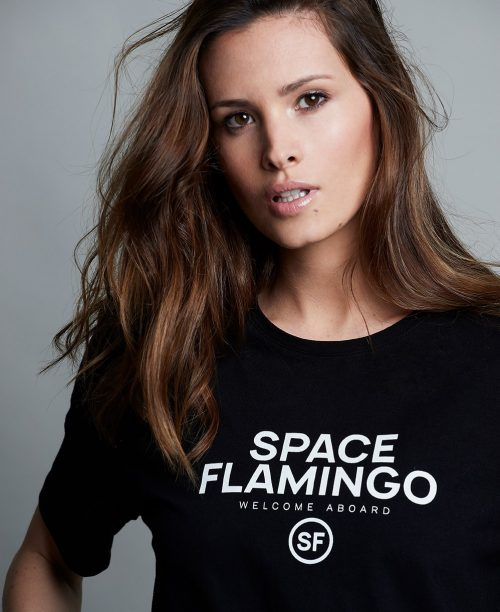camiseta-space-flamingo-i-black