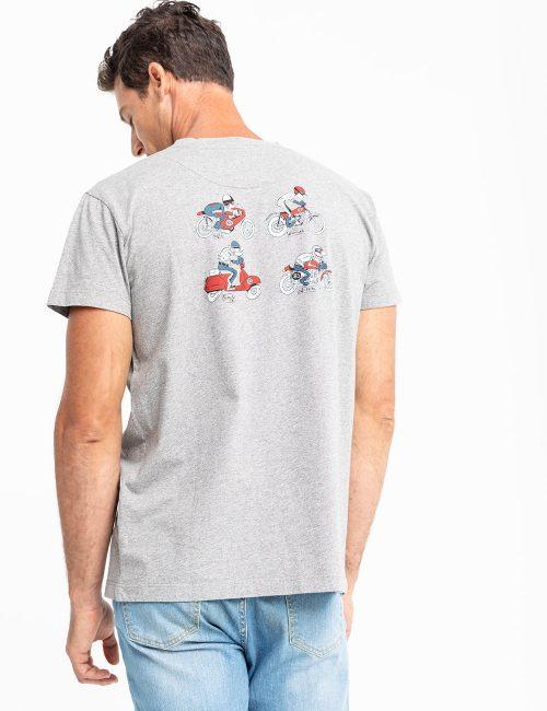 camiseta motorcycles scotta gris -SevenTimes