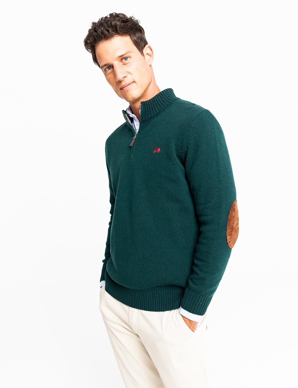 jersey zip verde botella scotta -Seven Times