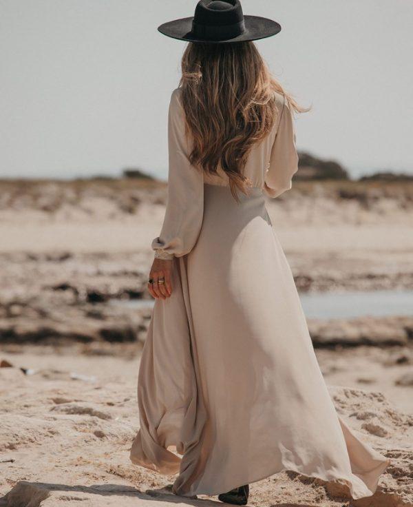 vestido-de-gasa-manga-larga Imiloa Seven Times