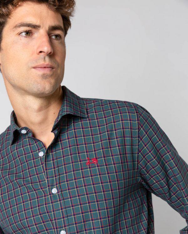scotta camisa cuadros africa verde oscuro -SevenTimes