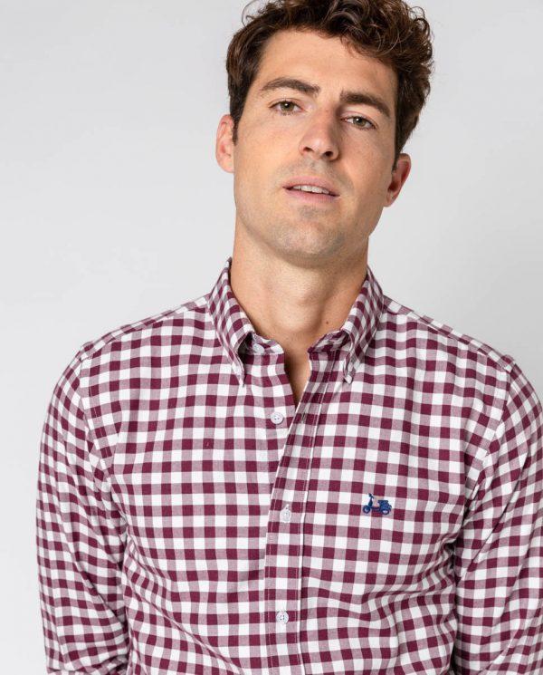 scotta camisa cuadros new panama burdeos1 -SevenTimes
