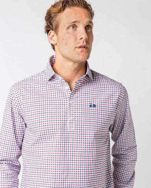 Scotta camisa polera viyela eco burdeos1 -SevenTimes