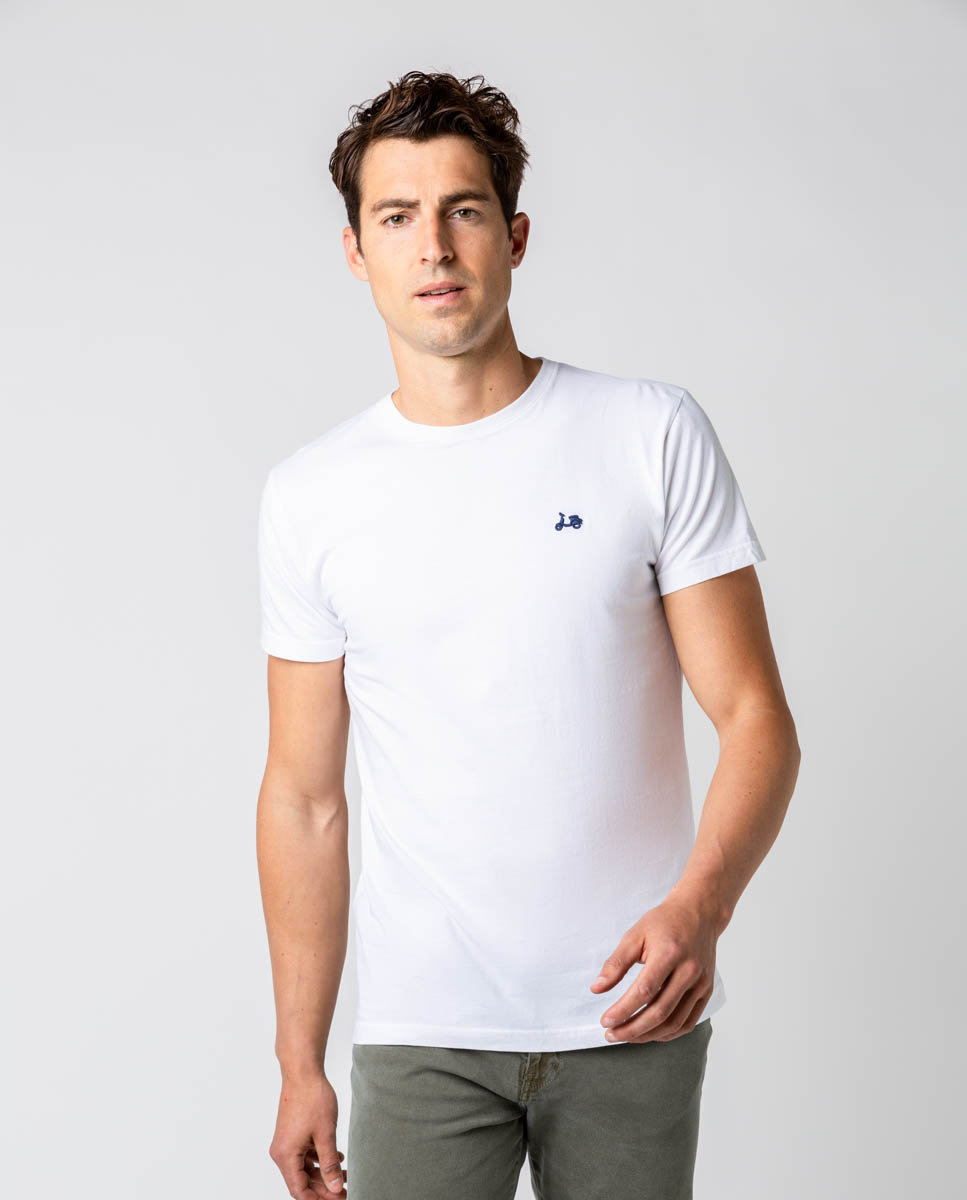 camiseta logo blanco scotta -SevenTimes