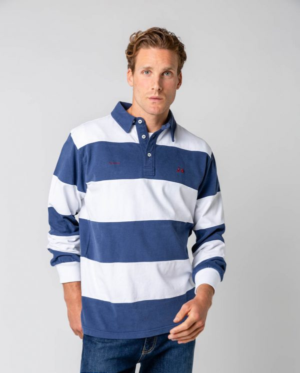 polo rugby stripes marino -SevenTimes